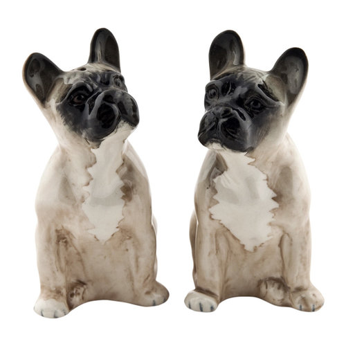 Quail Ceramics Quail Frenchie Salt & Pepper Shakers