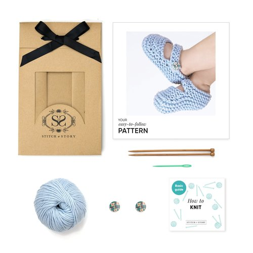 Stitch & Story Stitch & Story Bonny Booties Knitting Kit