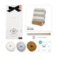 Stitch & Story Sleepy Baby Blanket Knitting Set