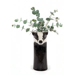 Quail Ceramics Quail Badger Flower Vase
