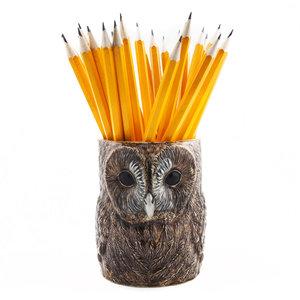 Quail Ceramics Quail Tawny Owl Pencil Pot