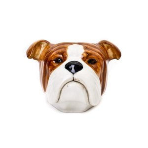 Quail Ceramics Quail English Bulldog Face Egg Cup