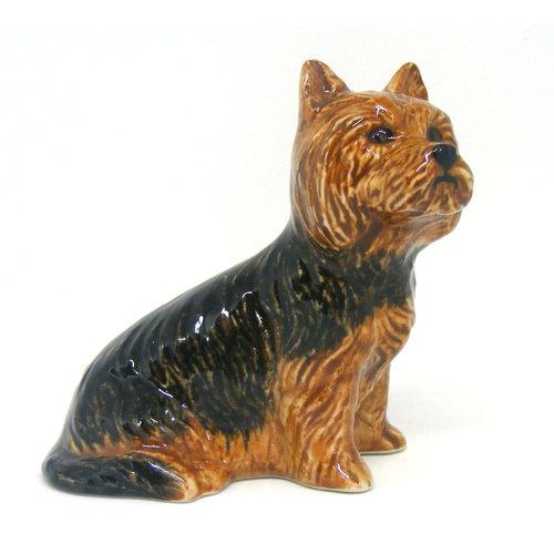 Quail Ceramics Quail Yorkshire Terrier Figurine