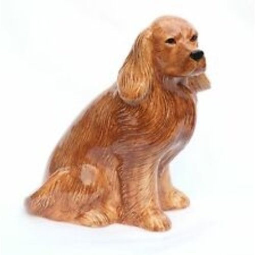 Quail Ceramics Quail Cocker Spaniel Figures Golden