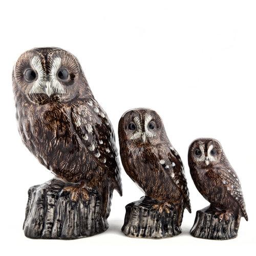 "Quail Ceramics Quail 6"" Figurine Tawny Owl"