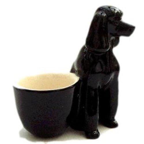 Quail Ceramics Quail Black Poodle Eggcup