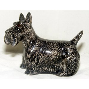 Quail Ceramics Quail Scottie Dog Figurine
