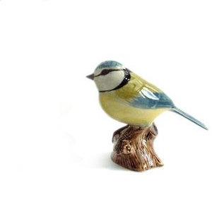 Quail Ceramics Quail Blue Tit Figurine