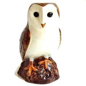 "Quail Ceramics Quail Barn Owl Figurine 6"""