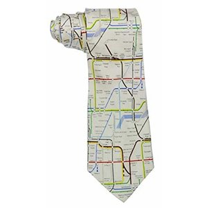 the tie studio Map of Underground Silk Tie