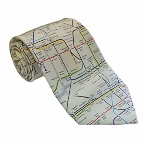 the tie studio Map of Underground Silk Tie