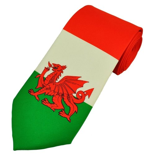 The Tie Studio Welsh Dragon Large At Tip of Tie