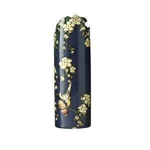 """Dartington Crystal Dartington Crystal John Beswick Ceramic Vases Katsushita Hokusai """"Birds/Flowers"""""""