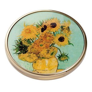 Dartington Crystal Parastone Movseion Collection Van Gogh Sunflowers Pocket Mirror