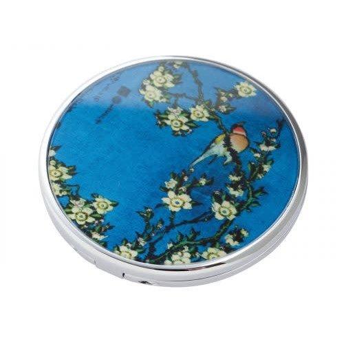 Dartington Crystal Parastone Mouseion Collection Hokusai- Bird/Flowers Pocket Mirror