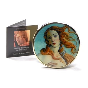 Dartington Crystal Parastone Mov Botticelli- The Birth of Venus Pocket Mirror