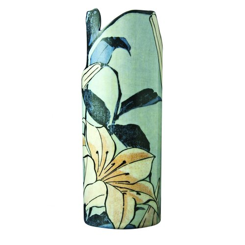 Dartington Crystal Dartington Crystal Silhouette D'art Vase - Hokusai - Lilies