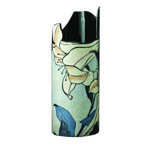 Dartington Crystal Hokusai- Bird and Flowers Vase