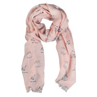 Wrendale Designs Pink Champagne Bunny Scarf