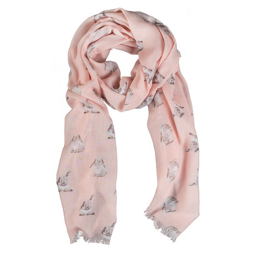 Wrendale Wrendale Designs Pink Champagne Bunny Scarf