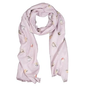 Wrendale Wrendale Designs Gardeb Birds Dusty Rose Scarf