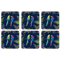 Sara Miller Parrot Coasters Set of 6