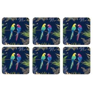 Sara Miller Sara Miller Parrot Coasters Set of 6