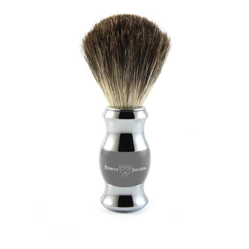 Edwin Jagger Edwin Jagger Shaving Brush, Grey, Pure Badger