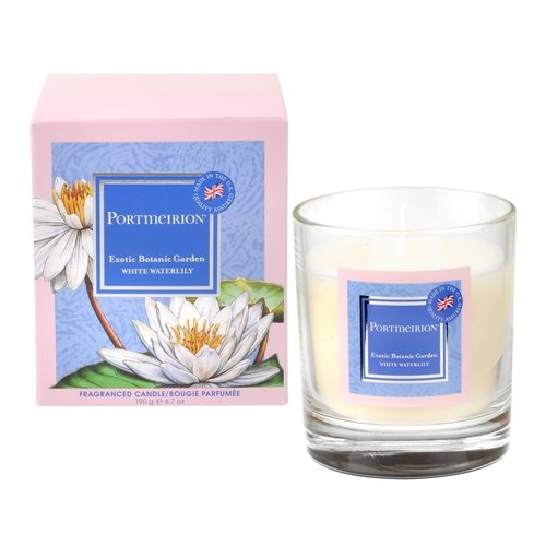 Portmeirion Portmerion White Waterlily Candle