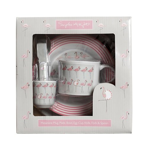 sophie allport Sophie August Childrens Melamine Set Flamingos