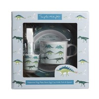 Sophie August Childrens Melamine Set Dinosaurs
