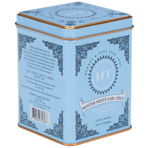 Harney & Sons Harney & Sons Winter White Earl Grey 20s Tin