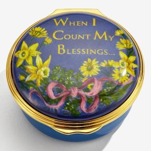 Halcyon Days Halcyon Days When I Count My Blessings Enamel Box