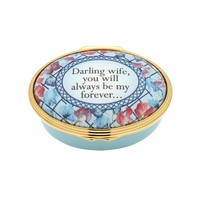 Halcyon Days Darling Wife You Will Always Be My Forever Enamel Box
