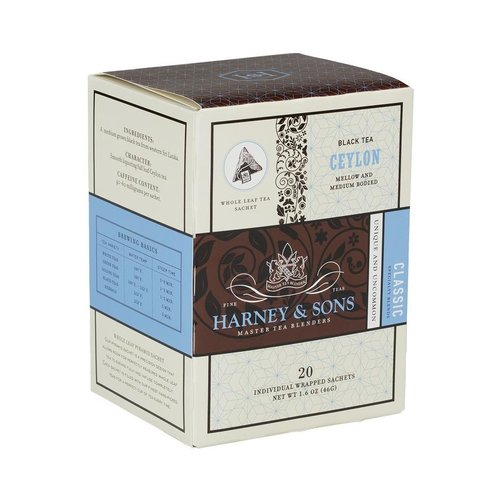 Harney & Sons Harney & Sons Ceylon Box of 20 Wrapped Sachets