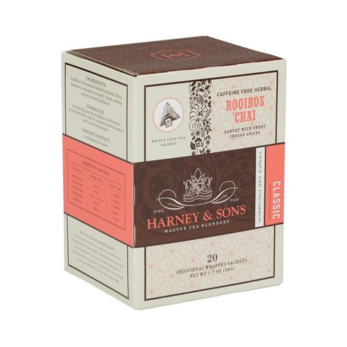 Harney & Sons Harney & Sons Rooibos Chai Box of 20 Wrapped Sachets
