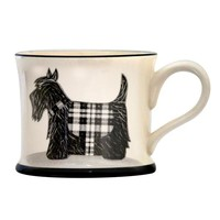 Moorland Pottery Scottie Dog Mug