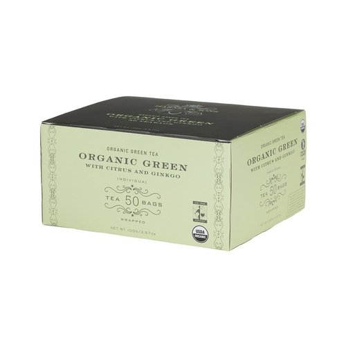 Harney & Sons Harney & Sons Organic Green With Citrus & Ginkgo 50 Count Box