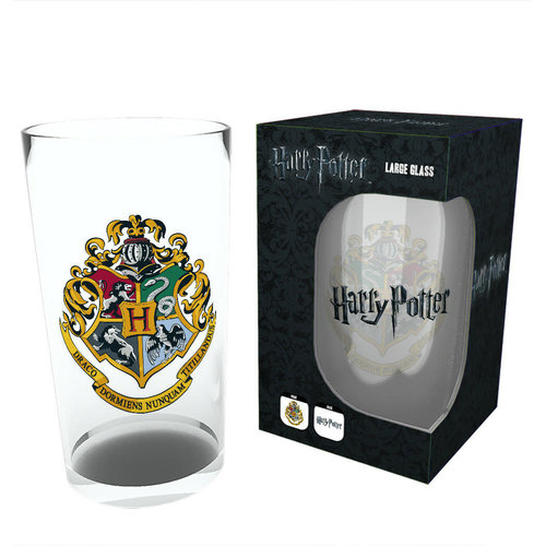 Hogwarts Crest Large Glass