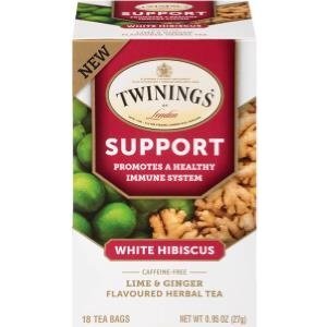 Twinings Twinings 18 CT Support White Hibiscus Lime and Ginger