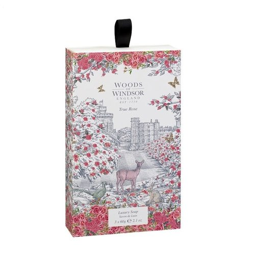 Woods of Windsor Woods of Windsor True Rose Box of 3 Soaps