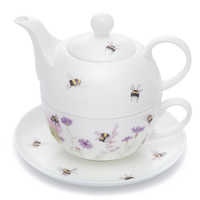 Mosney Mill Bee and Flower Tea for One Teapot & Cup