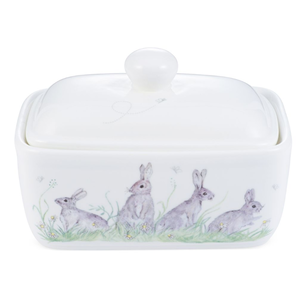 Mosney Mill Mosney Miller Green Rabit China Butter Dish