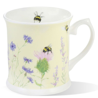 Mosney Mill Bee and Flower Yellow Mug