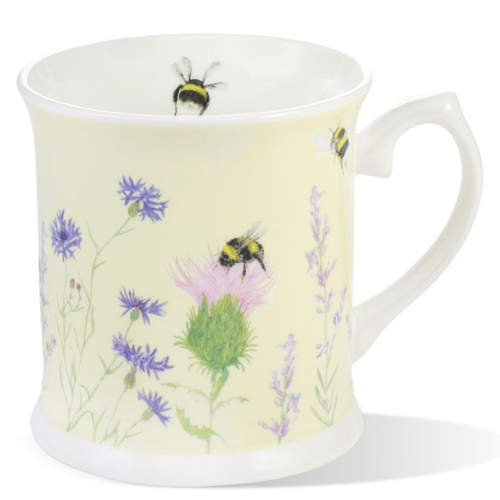 Mosney Mill Mosney Mill Bee and Flower Yellow Mug