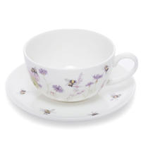 Mosney Mill Bee and Flower Cup and Saucer