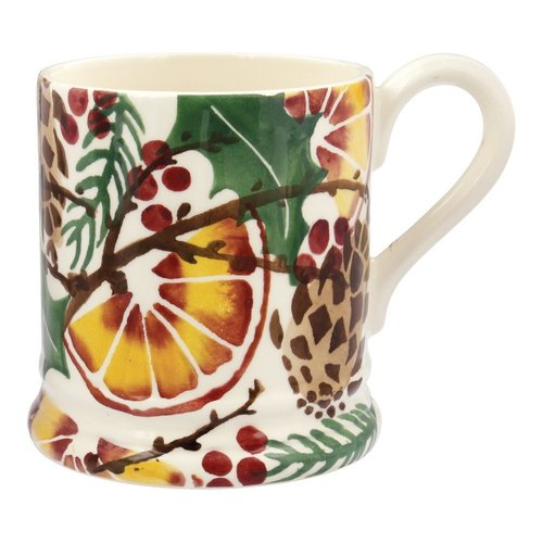 Emma Bridgewater Emma Bridgewater Holly Wreath 1/2 Pint Mug