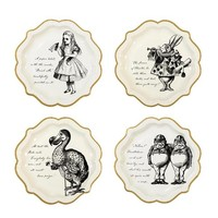 Talking Tables Truly Alice Paper Plate 12 Count