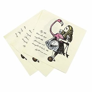 Talking Tables Alice in Wonderland Talking Tables Luncheon Napkins
