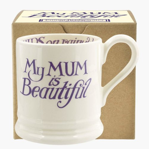 Emma Bridgewater Emma Bridgewater Mum is Beautiful 1/2 Pint Mug